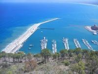 vista su porto e golfo dal Belvedere - 27 agosto 2012  - Castellammare del golfo (208 clic)