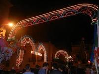 luminarie in Corso 6 Aprile e Piazza Mercato - festeggiamenti in onore di Maria SS. dei Miracoli - 16 giugno 2012  - Alcamo (265 clic)