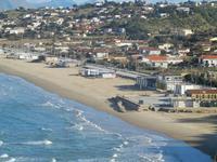 Spiaggia Plaja panorama dalla periferia est della città - 11 gennaio 2012  - Castellammare del golfo (350 clic)