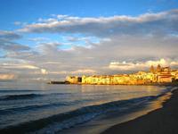 Crepuscolo sul mare   - Cefalù (861 clic)