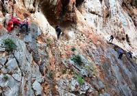 Gruppo di speleologi Palestra su roccia, zona Valdesi M. Pellegrino PALERMO Paola Porcello