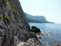 Gruppo di speleologi 2016 Frazionamento orizzontale: moschettone di rinvio e moschettone con ghiera.  - Sferracavallo (1181 clic)