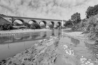 Ponte Imera (CL) Ponte sul fiume Salso, campagne di Imera, Caltanissetta  - Salso (1905 clic)