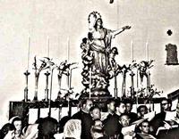 Altare della Madonna Assunta nella seconda chiesa, Nizza di Sicilia. (372 clic)