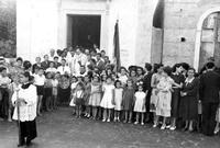 Parrocchia Maria Santissima Assunta, Nizza di Sicilia. Foto d'epoca.  (565 clic)