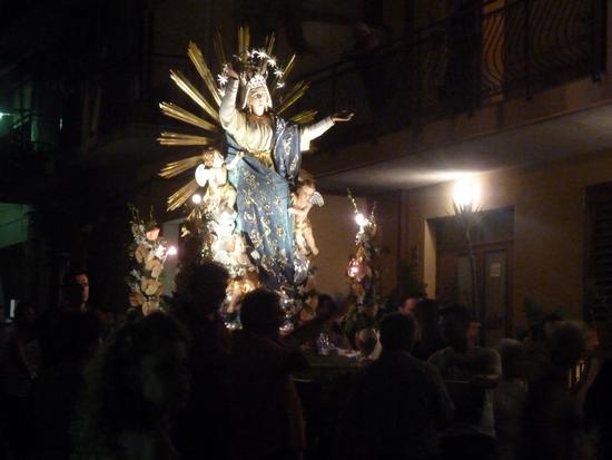 Processione dell' Assunta, festa patronale 2015 - NIZZA DI SICILIA - inserita il 11-Jul-16