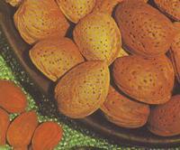 Mandorle Siciliane Sono quei tipi di frutti che, attraverso un processo di essiccazione naturale (al sole) , vengono deprivati della maggior parte dell'acqua  in realtà le noci, le mandorle .........non sono frutti ma semi.  - Lucca sicula (1179 clic)
