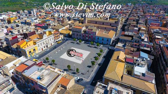 Vista aerea piazza A. Diaz Carlentini - CARLENTINI - inserita il 11-May-17
