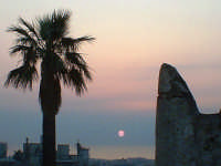 tramonto dal Castello di Bauso  - Villafranca tirrena (6030 clic)