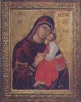 La stupenda Icona bizantina di Maria SS. dell'Elemosina(1400)portata a Biancavilla dai Padri albanesi.  - Biancavilla (3619 clic)