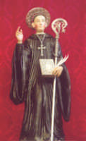 San Placido,compatrono di Biancavilla.  Statua lignea op. Sac. Portale, custodita nella barocca cappella all'interno della Basilica Santuario di Biancavilla.  - Biancavilla (7957 clic)