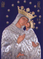 Icona bizantina di Maria Ss. dell'Elemosina, con riza in argento custodita nella sua cappella barocca all'interno della Basilica Santuario dove Lei è titolare.  - Biancavilla (3704 clic)
