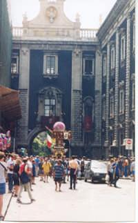 La Candelora a Porta Uzeda  - Catania (2361 clic)