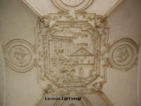 Particolare della volta dell'atrio del Palazzo Beneventano  - Siracusa (1830 clic)