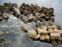 Frangiflutti, Lungomare di levante di Ortigia. Da notare che il mare ha talmente eroso i blocchi calcarei che sembrano fatti di sfoglia  - Siracusa (2031 clic)