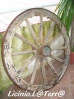 Una vecchia ruota di un carro CANICATTINI BAGNI Licinio La Terra Albanelli