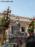 Il Simulacro argenteo di S. Lucia in Piazza Duomo per la festa di Maggio di S. Lucia delle quaglie  - Siracusa (4251 clic)