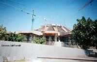 Il Santuario della Madonnina delle Lacrime in costruzione, lato Sud. Primi anni '90  - Siracusa (2083 clic)