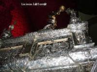 Particolare dal basso del Simulacro argenteo di S. Lucia  - Siracusa (2752 clic)