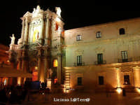 Cattedrale e Arcivescovado in Piazza Duomo in notturna  - Siracusa (2780 clic)