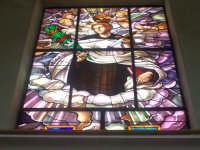 Chiesa di Sant'Angelo - vetrata artistica con l'immagine del Santo  - Licata (3717 clic)