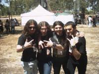 Concerto dei Darkast. Foto di gruppo prima dell'esibizione all'Efebo Rock Festival (foto Bianco F.)  - Castelvetrano (8612 clic)