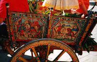 PArticolare decorativo della fiancata di un carrettino siciliano  - Marsala (4456 clic)