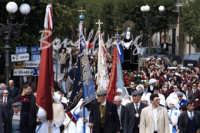 Pasqua:Feste e tradizioni popolari (venerdi santo) processione,L'Addolorata con le congregazioni.  - Mazzarino (7395 clic)