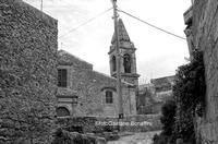 Mazzarino LA Chiesa del SS. Sig.re dell'OLMO prima del restauro 1975  Mazzarino GAETANO BONAFFINI
