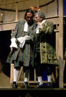 Foto di scena de La Scuola delle mogli con Rosario Marco Amato ed Enrico Guarneri  - Furci siculo (1754 clic)