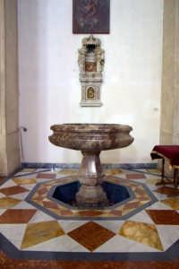 Duomo - Fonte battesimale  - Alì (4333 clic)