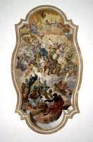 Affresco nel soffitto dell'aula magna nel Monastero dei Benedettini  - Catania (2709 clic)
