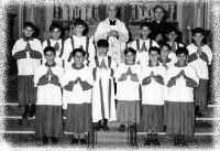 ANNO 1968  GRUPPO DI CHIERICHETTI. CHIESA MADRE RESUTTANO  - Resuttano (6571 clic)