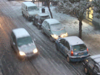 Ragusa sotto la neve, 26 gennaio 2005: via Roma  - Ragusa (4077 clic)