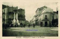 Cartolina d'epoca - Monumento ai Caduti  - Giarre (4085 clic)