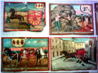 Chiesa S.Alfio in Trecastagni, disegni con raffiguranti i miracoli effettuati dal Santo. Se ne trovano a centinaia nelle stanze nel retro della chiesa.  - Trecastagni (3100 clic)