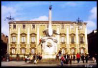 Palazzo del Municipio con in primo piano il Liotru.  - Catania (2124 clic)