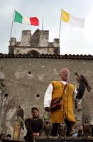 Dimostrazione di volo, con falchi addestrati, durante i festeggiamenti della salita di San Filippo..  - Calatabiano (2951 clic)