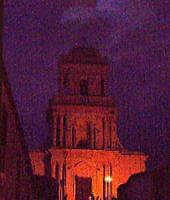 La chiesa di Sant'Antonio, di notte.  - Buccheri (1674 clic)