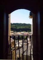 Veduta di Buccheri dalla sagrestia della chiesa di S.Antonio abate.  - Buccheri (1987 clic)