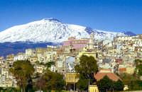 Chiesa Madre con sullo sfondo l'Etna,  - Centuripe (9774 clic)