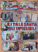CORTEO STORICO DI SANTA RITA - Cartellone istoriato del cantastorie popolare Ignazio De Balsi  - Castelvetrano (4052 clic)