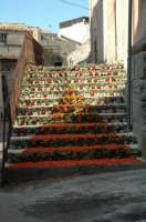 Infiorata 2007.....Scalinata della Chiesa del Santissimo Rosario addobbata con i fiori per la Festa del Corpus Domini.  - San pier niceto (7570 clic)