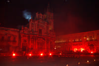 20 Gennaio 2006 san.Sebastiano,i fuochi di piazza Duomo  - Acireale (1894 clic)