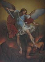 TELA DI SAN MICHELE ARCANGELO CHE SI VENERA NELLA CHIESA DI SAN NICOLA DI TRECASTAGNI  - Acireale (2156 clic)