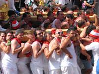 SAN SEBASTIANO :10 AGOSTO 2005  PORTATORI DEL FERCOLO   - Palazzolo acreide (2718 clic)