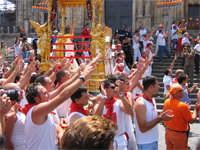 SAN SEBASTIANO :10 AGOSTO 2005  SALUTO AL SIMULACRO   - Palazzolo acreide (2533 clic)