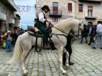 In giro per le strade il giorno di S.Giuseppe.Cavaliere a cavallo  - Valguarnera caropepe (7185 clic)