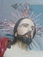 Domenica di Pasqua-Il crosto risorto dentro la chiesa del S.S.Crocifisso dopo la processione.   - Riesi (8337 clic)