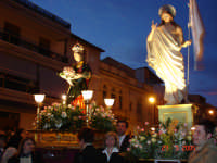 INCONTRO MADONNA CON CRISTO RISORTO IN VIA VITTORIO EMANUELE  - Catenanuova (3586 clic)